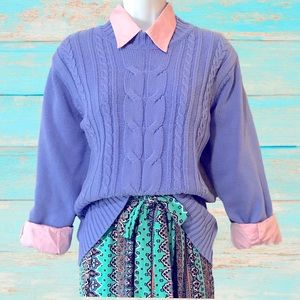 BUNDLE FOR $18 HABAND Twisted Cable Knit Sweater in Pastel